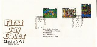 (28156) Singapore Fdc Chidren ' S Rt - 1 October 1977 photo