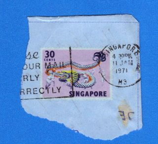 Singapore Stamp Scott 92 Envelope Stamp See Photo (2) photo
