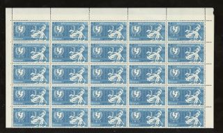 Nepal 1971 Unicef 1r Full Sheet Of 50 photo