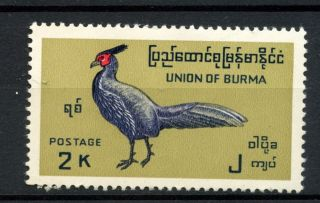 Burma 1968 Sg 205,  2k Bird,  Definitive 39x21mm A51676 photo