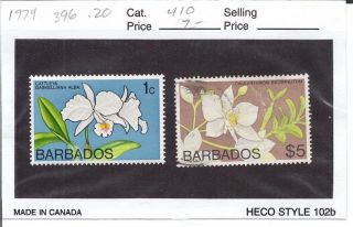 Barbados 1974 Orchids 396 & 410 photo