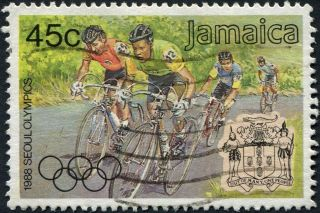Jamaica 1988 45c Multicoloured Sg723 Cv £0.  70 F Uh Postage photo