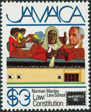 Jamaica 1986 $3 Multicoloured Sg653 Cv £1.  25 F Mh Postage photo