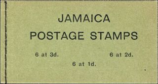 Jamaica 1965 3s Black On Green Cover Sgsb15 Stamp Booklet Postage photo