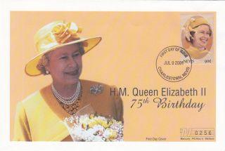 (18029) Mercury Fdc Nevis - Queen Elizabeth 75th Birthday 2001 photo