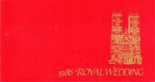 Royal Wedding 1986 - Prince Andrew & Sarah Ferguson - Stamp Booklet - Nevis photo