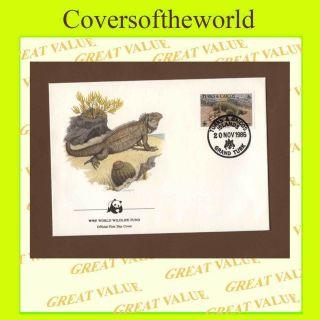 Turks & Caicos 1986 Iguana,  Wwf First Day Cover photo