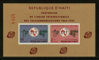 Haiti 1966 Itu Souvenir Sheet Scv15 photo