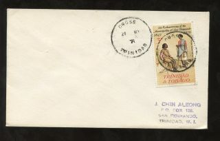 Trinidad Cross Village Postmark. . .  1971 La Brea To San Fernando photo