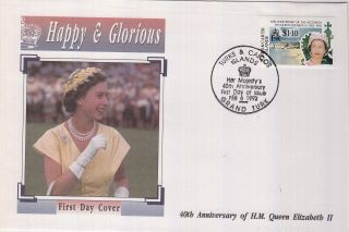 (73053) Fdc Turks And Caicos Islands - Queen Elizabeth 40 Years 1992 photo