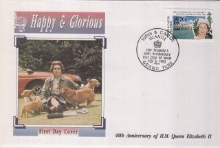 (73054) Fdc Turks And Caicos Islands - Queen Elizabeth 40 Years 1992 photo