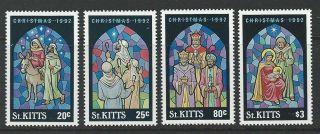 St.  Kitts 1992 Sc 351 - 354 Christmas photo