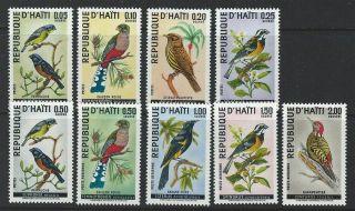 Haiti 1969 Sc 611 - 615,  C326 - 329 Birds photo