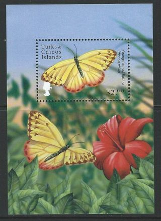 Turks And Caicos 2000 Sc 1320 Butterflies Flowers photo