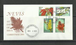 1241.  Nevis 2001 Christmas,  Flowers Fdc photo