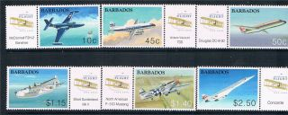 Barbados 2003 Cent.  Of Powered Flight Sg1235/40 photo