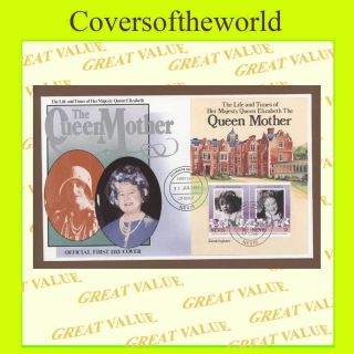 Nevis 1985 Queen Mother Miniature Sheet First Day Cover photo
