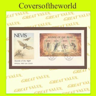 Nevis 1989 Insects Miniature Sheet First Day Cover photo