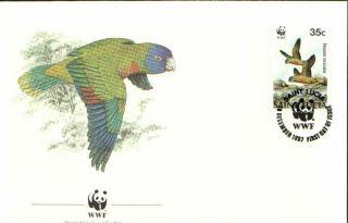 (70183) Fdc Wwf St Lucia - Amazona - 1987 photo