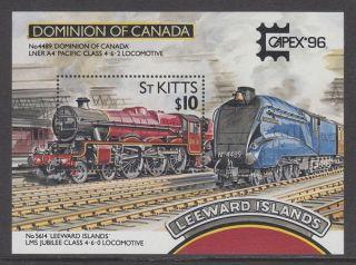 St Kitts - 1996 ' Capex 96 ' Int.  Stamp Exhibition,  Toronto Ms Um / photo