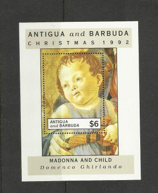 234.  Antigua And Barbuda 1992 Christmas S/s photo