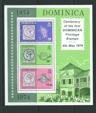Dominica Sgms421 1974 Stamp Centenary photo