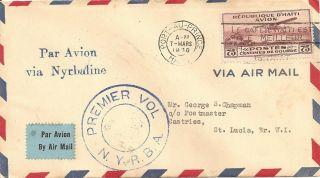 1930 Nyrba Ny - 22e Ff Port Au Prince Haiti To Castries St Lucia Bwi Cover photo