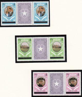 (71432) Caicos Islands - Gutter Pairs Overprint - Princess Diana Wedding 1981 photo