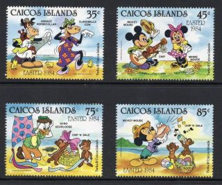 Caicos Islands 1984 Easter Disney Cartoon Characters Sg 50 - 53 Unmounted photo