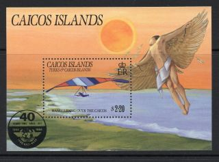 Caicos Islands 1985 Anniv International Civil Aviation Minisheet Sg Ms81 Un/mint photo
