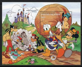 Caicos Islands 1985 Grimm Brothers Disney Characters Minisheet Sg Ms 95 Un/mint photo
