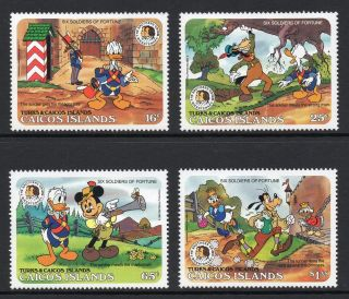 Caicos Islands 1985 Grimm Brothers,  Disney Characters Sg 91 - 94 Unmounted photo