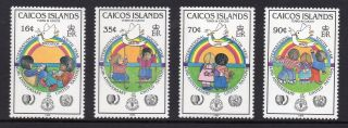 Caicos Islands 1985 Youth Year/united Nations Anniv Sg 73 - 76 Unmounted photo