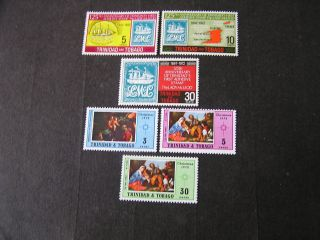Trinidad & Tobago,  Scott 216 - 218 (3) +228 - 230 (3) Total 6 1972 Various Issues photo
