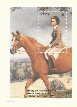 Nevis 1993 - 40th Anniv Coronation Hm Queen Elizabeth Ii S/s photo