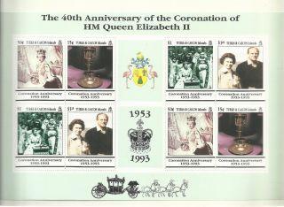 Turks & Caicos 1993 - 40th Anniv Coronation Hm Queen Elizabeth Ii M/s photo