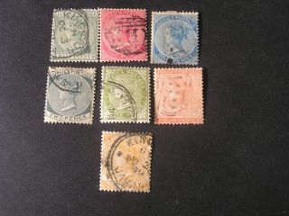Jamaica,  Scott 16 - 18 (3) +20 - 23 (4),  Total 7 Qv.  1883 - 90 Wmk Crown Ca Issue photo