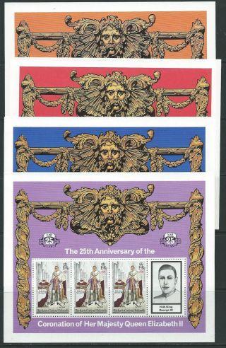 Turks & Caicos Is.  Sg494/7 1977 Coronation Sheetlets photo
