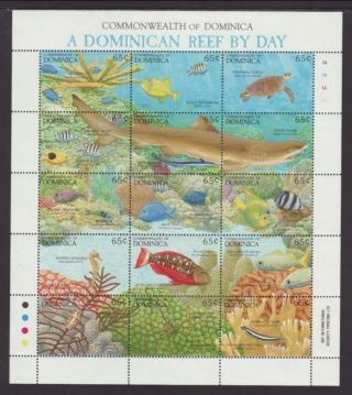 Dominica 1479 Reef,  Fish Vf (14650) photo