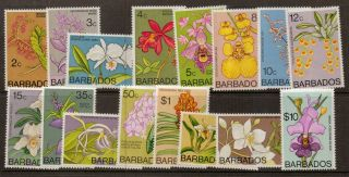 Barbados Sg485/500 1974 Orchids photo