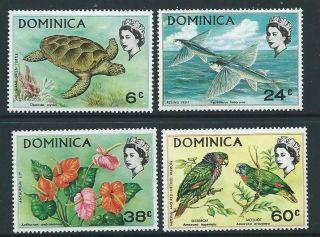 Dominica Sg303/6 1970 Flora & Fauna photo