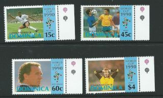 Dominica Sg1383/6 1990 World Cup Football Championship photo