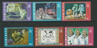 Dominica Sg296/301 1970 Moonlanding photo