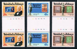 Trinidad & Tobago 1979 Rowland Hill Gutter Pairs Sg551/3 photo