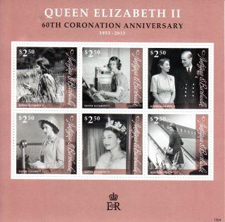 Antigua & Barbuda 2013 Queen Elizabeth Ii 60th Coronation Anniversary 6v M/s photo