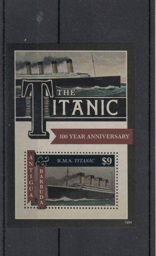 Antigua & Barbuda 2012 Titanic 100 Year Anniversary 1v Sheet Sinking Rms photo