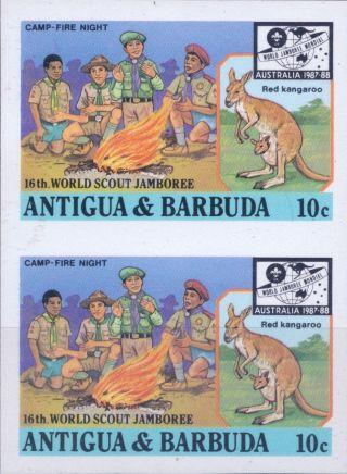 1987 Antigua & Barbuda 16th World Scout Jamboree Australia 10¢ Imperf Proofs (5) photo
