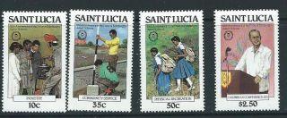 St.  Lucia Sg588/91 1981 25th Anniv Of Duke Of Edinburgh photo