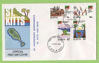 St.  Kitts 1984 1st Anniversary Of Independence First Day Cover photo
