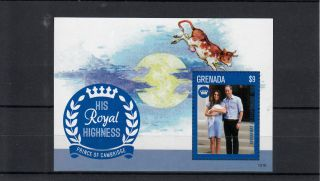 Grenada 2013 Birth Prince George Royal Baby 1v S/s William Kate Middleton photo
